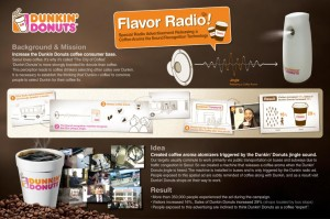 dunkin donuts sensorial radio